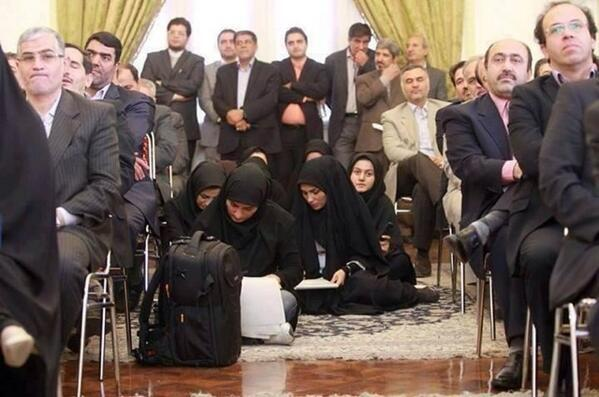 You're a female journalist in Iran? Allow me to show you to your seat.... http://t.co/xuzNPXvdN1 ( via @rezel)
