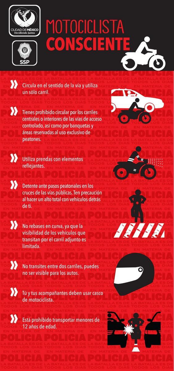 #ConcienciaVial Motociclista: Evita riesgos. Tu y tus acompañantes deben usar casco. http://t.co/HU0sWpmr15