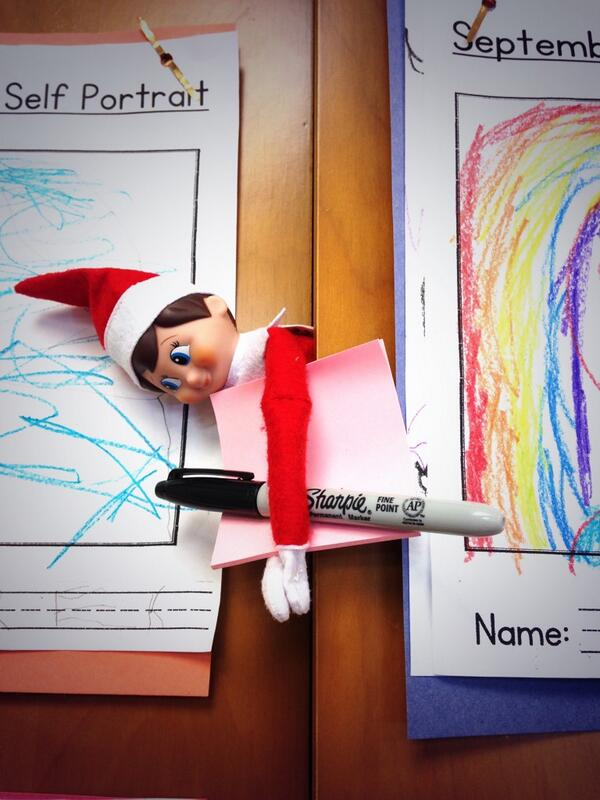 Little Elf taking notes in @MissHullJSE http://t.co/bSXsN2zyU3