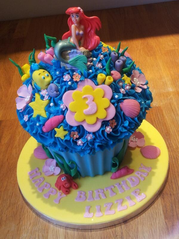 Under the sea #giantcupcake #littlemermaid #disney