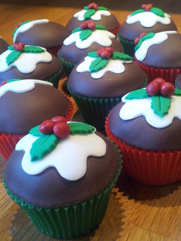 #christmas pudding #cupcakes
