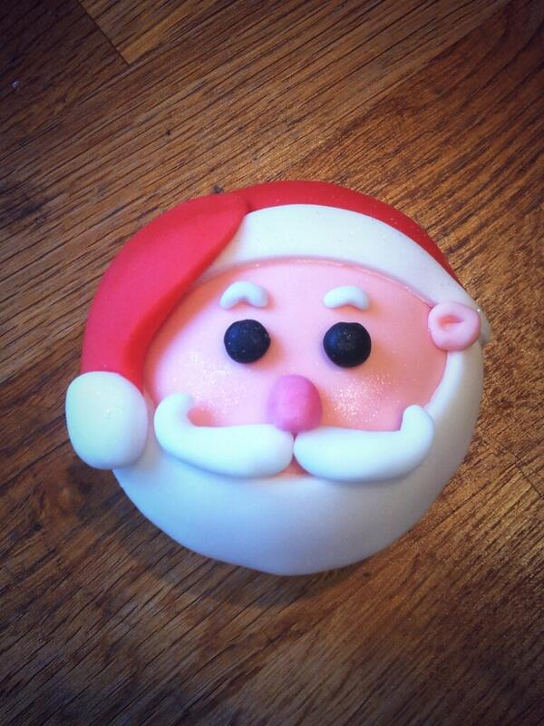 Santa #cupcake #christmas