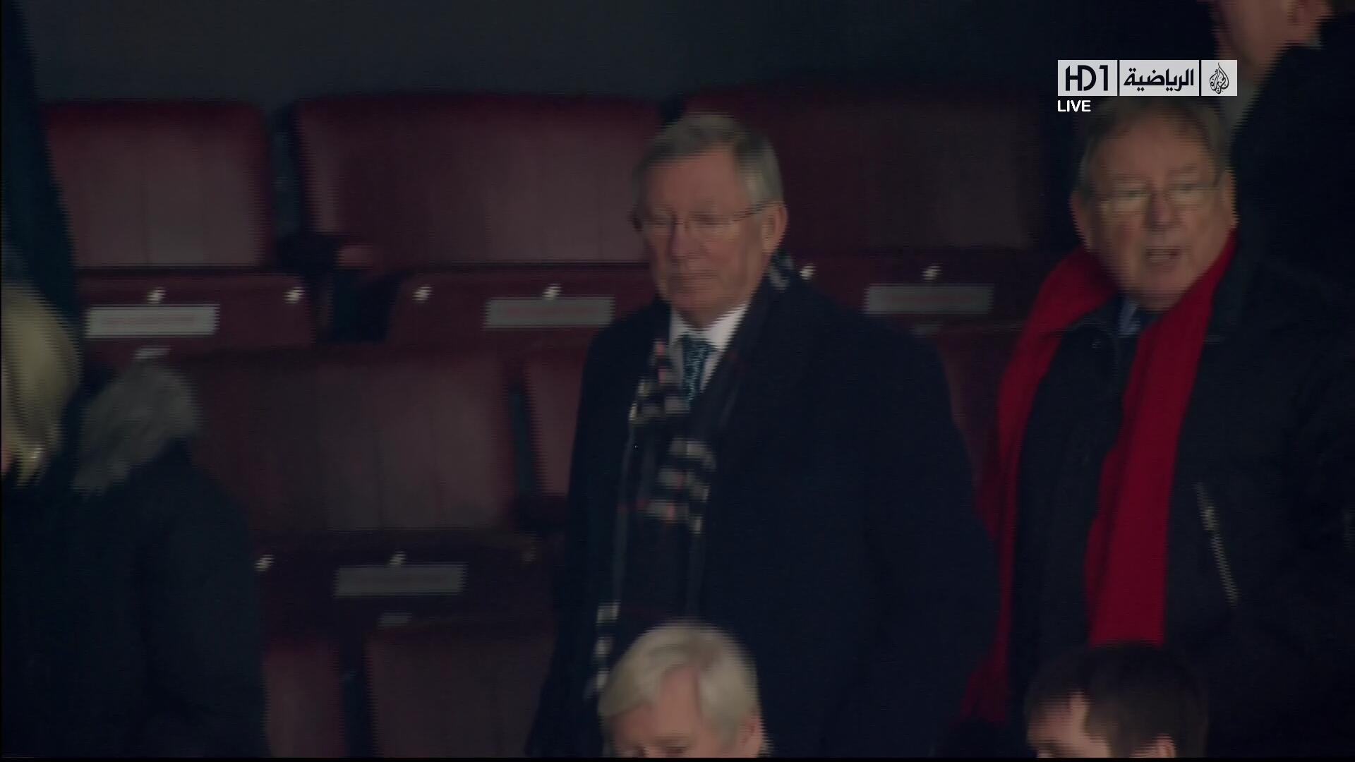 Sir Alex Fergusons face after Manchester United lose at home to Everton