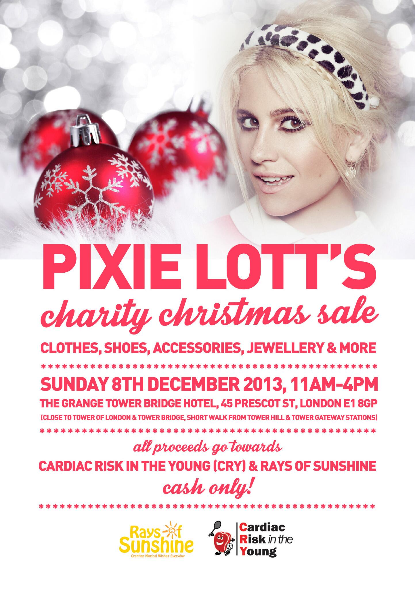 Not long now 2 days to go! Who's joining me for my charity sale for @RaysofSunshine & @CRY_UK? See you there! XX http://t.co/EY6XYEVNr0