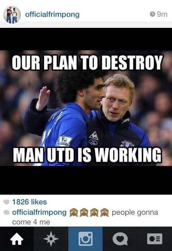 Arsenals Emmanuel Frimpong posts joke memes ridiculing Man United after defeat to Everton