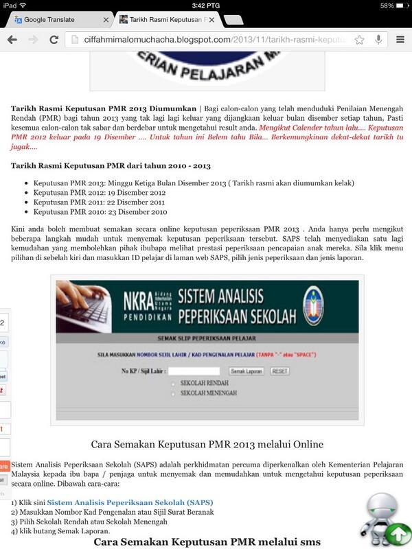 Perbandingan Dan Target Pmr 2010
