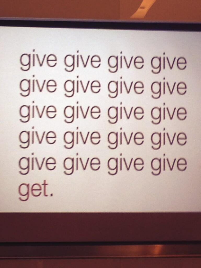 Twitter / jmkstock: Think it's about giving? :-) ...