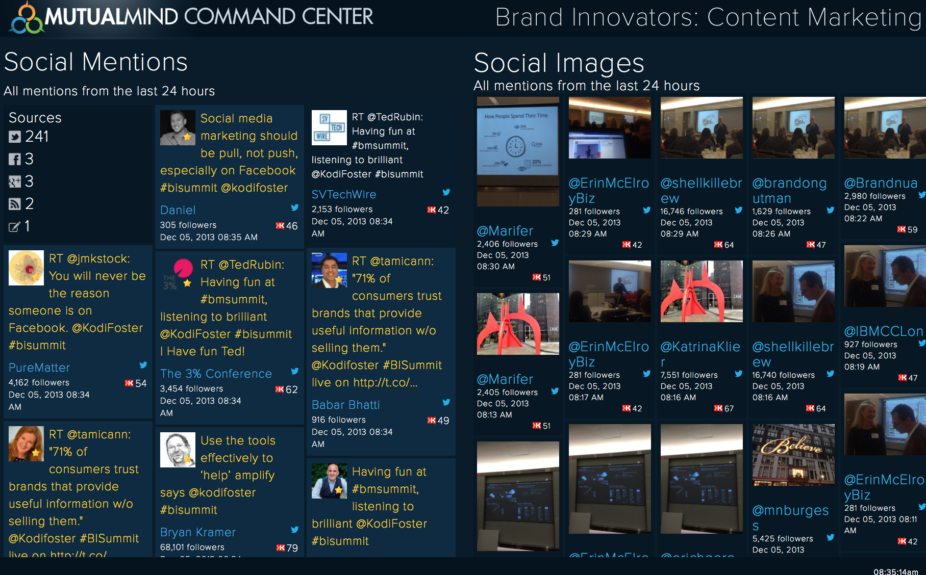Twitter / MutualMind: Command Center at Content ...