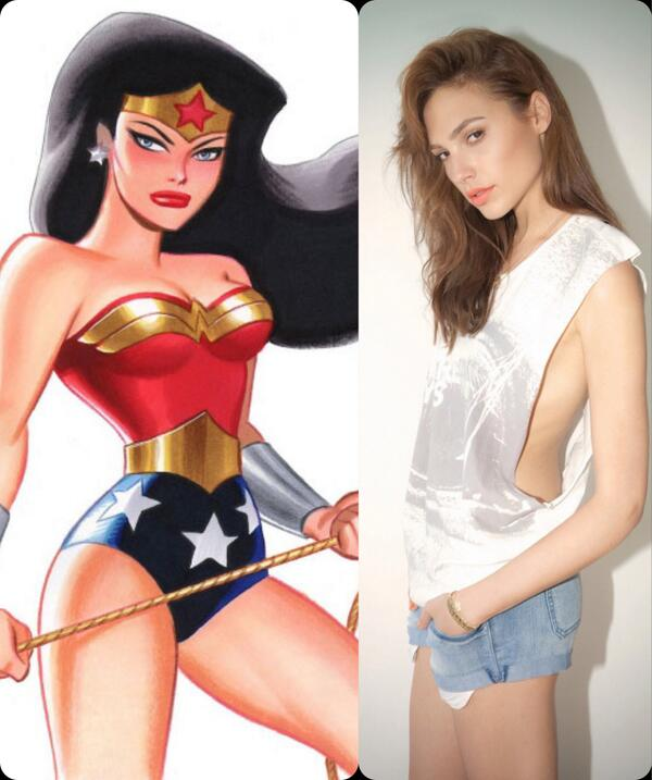 Does this look at all right?!?!? Somebody better make Gal Gadot a damn sandwich. #wonderwoman http://t.co/TkQZRayt4s