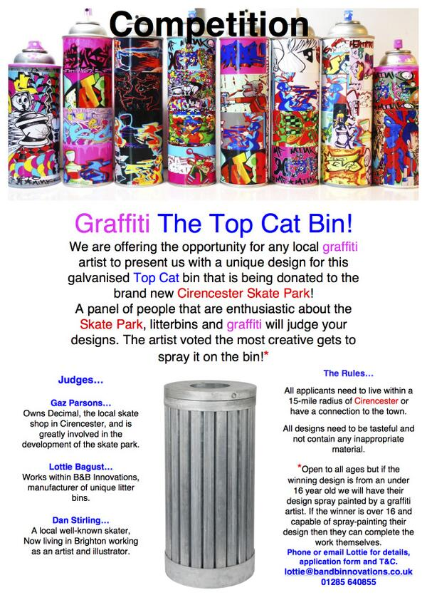 """""""@BandBBins: Competition time!!! Check this out and get involved! #competition #skatepark #Cirencester #cotswolds RT """""""