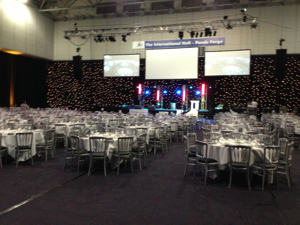 """@thelovelyallie: @GethincJones looking forward to seeing u host #sheffieldbusinessawards tonight!""Place looks gr8! http://t.co/VrQ3pmDqVB"