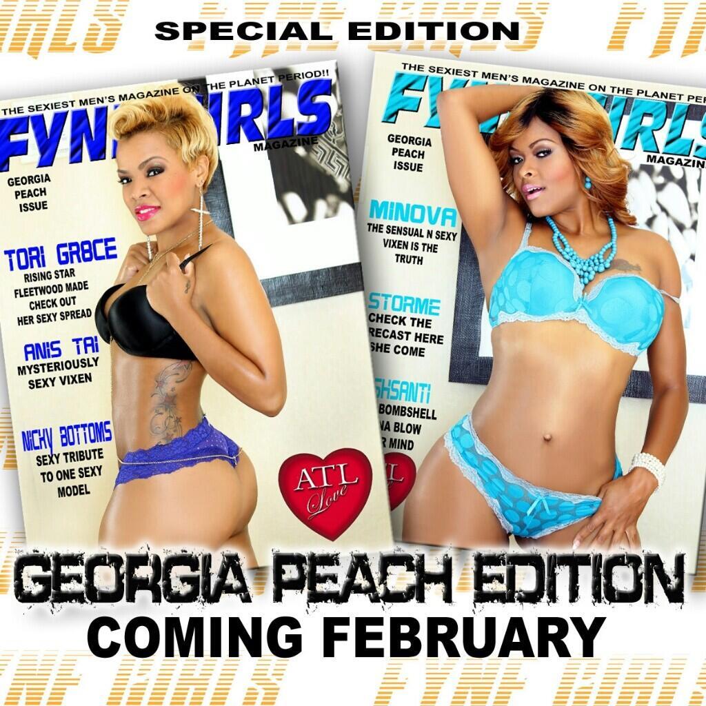 """Fyne Girlz intended for model & actress on twitter: """"@fynegirlsmag """"georgia peach"""" issue"""