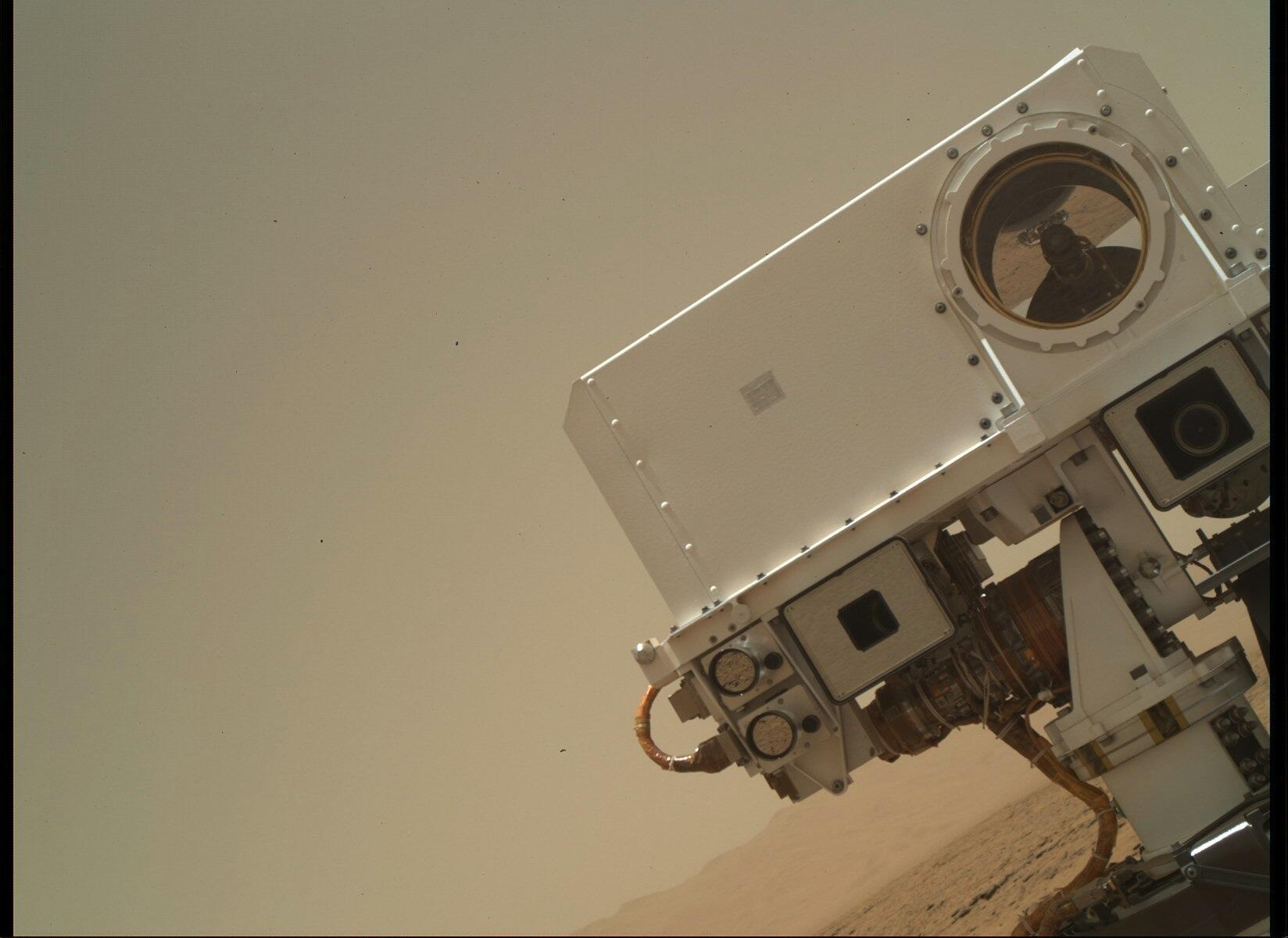 close up of the Mars Curiosity rover