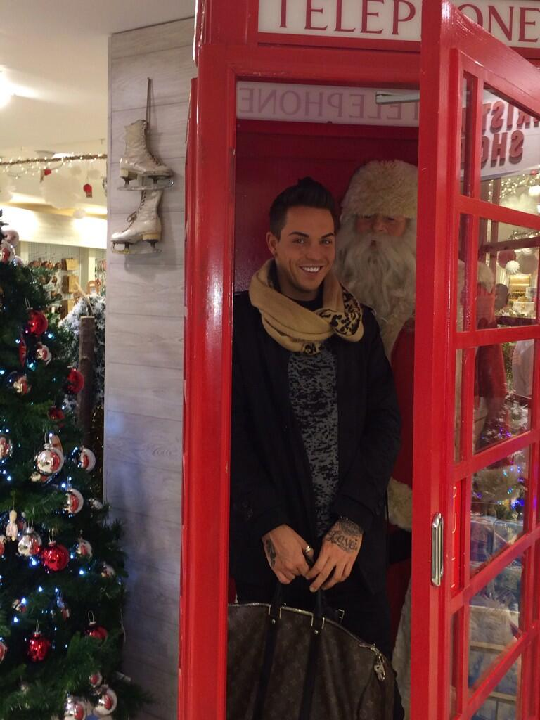 Me and Santa having a catch up in a phone box.. #AsYouDo http://t.co/blCBulLCM5