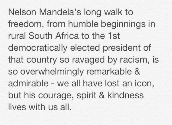 My thoughts on the passing of Nelson #Mandela #RIPNelsonMandela http://t.co/OpPUaSxgph