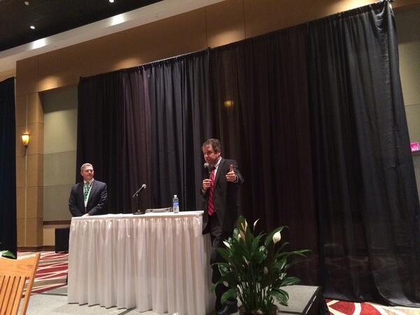 @SenSherrodBrown and @OhioFarmBureau President Steve Hirsch addressing the VIP reception this evening. #OFBF13 http://t.co/jtExaTCPpp