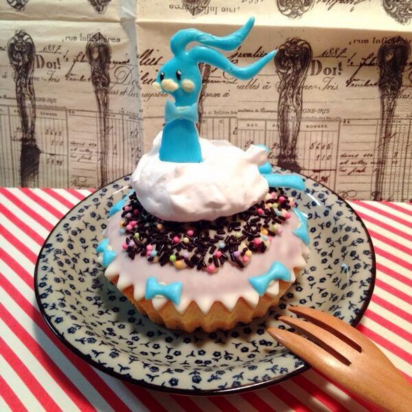 チルタリスのホワイトチョコケーキ(*^^*)♡