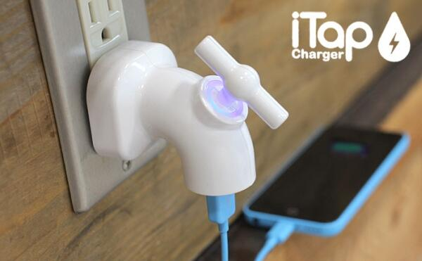 """""""蛇口""""をひねって充電スタート!蛇口型 USB-AC 充電アダプタ「iTap」 http://japan.internet.com/allnet/20131206/2.html… #スマホ #iPhone"""