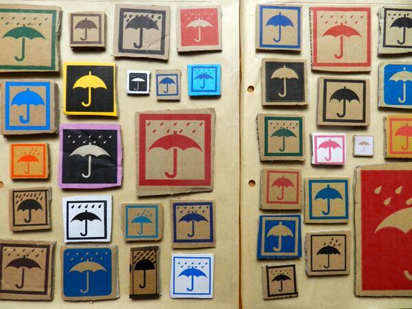 私のひそかなコレクション「段ボールについてる傘マーク(水濡れ厳禁マーク)」