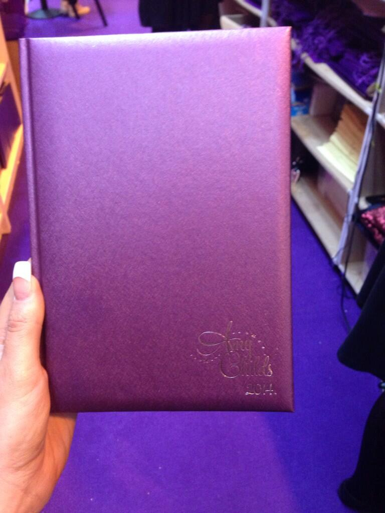 I'm loving the NEW @MissAmyChilds diaries 2014 have you got yours yet ?  £10 xxx http://t.co/s8yhqhTsQh