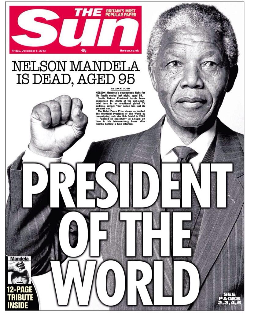 Historic Sun front page - President of the World http://t.co/nEOatcLhkj