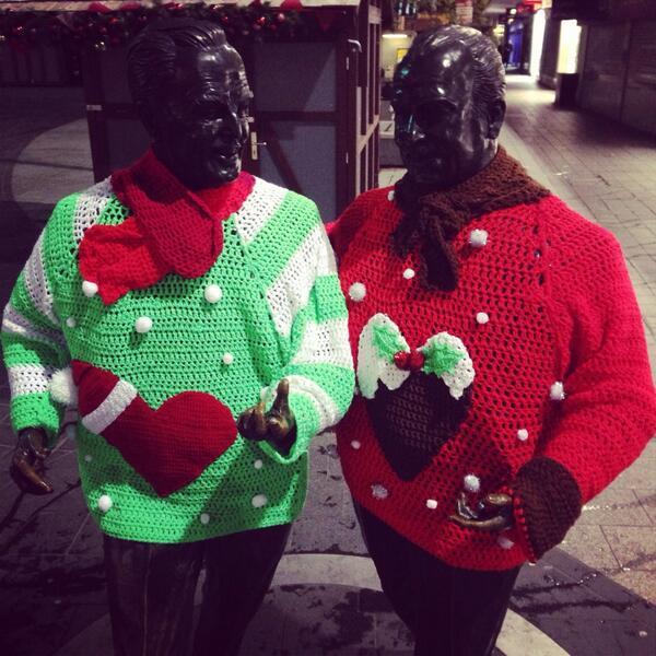 Christmas Yarnbombing