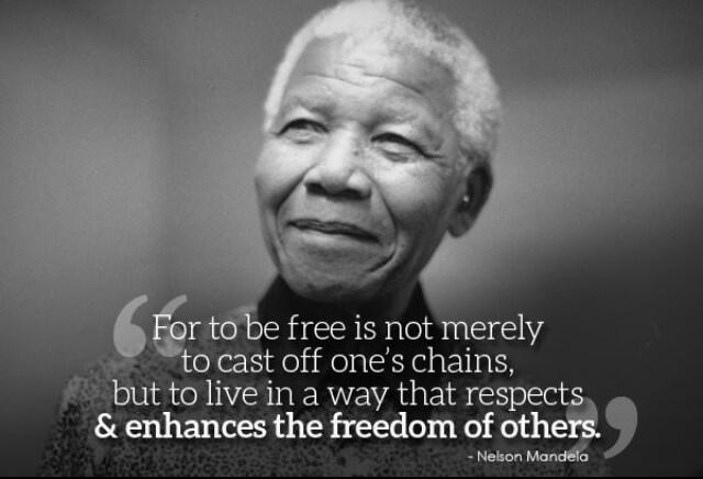 #RIPNelsonMandela an incredible man who risked his own life for the freedom of others! http://t.co/6XORctCjew