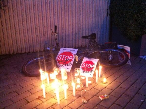 #vauxhall #cyclingprotest http://t.co/Yzi80OYTb4