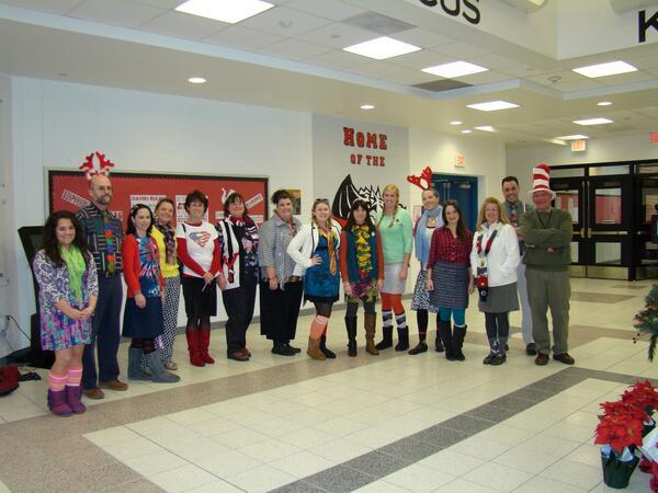 Davies Holiday Spirit Week-Staff dressed up yesterday for 'Wacky Wednesday!'' #WeAreDavies http://t.co/UkoOCeLTPR
