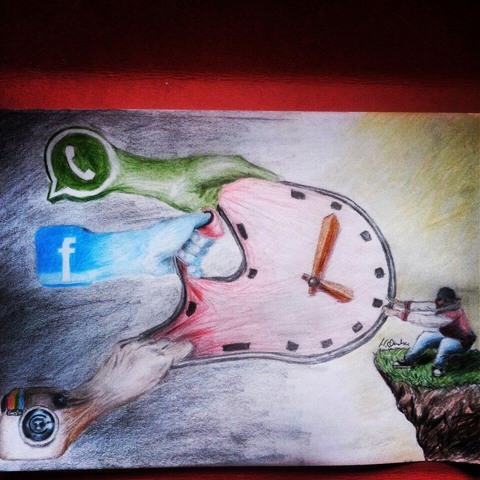 Social media painting