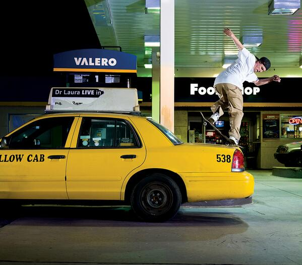 #throwbackthursday: @DGKALIS can back noseblunt anything. Including the back of this cab at a gas station in 2008. http://t.co/BGp3tf9AYz