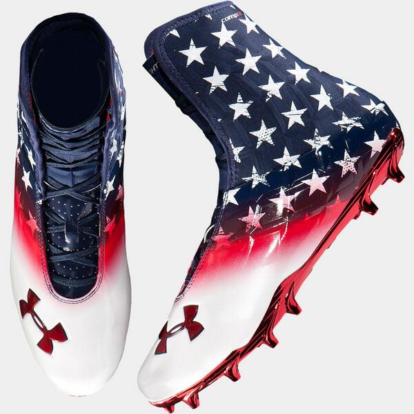 american flag under armour football cleats