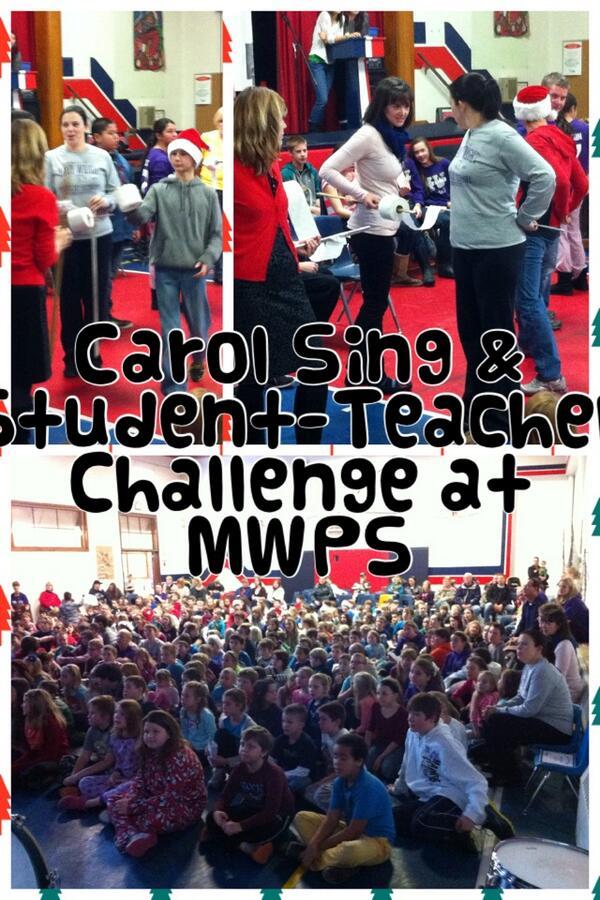 Carol Sing & Student-Teacher Challenge at  MWPS #tvdsbcelebrates http://t.co/Evq0gv8Hog http://t.co/l1oLwwhb5X