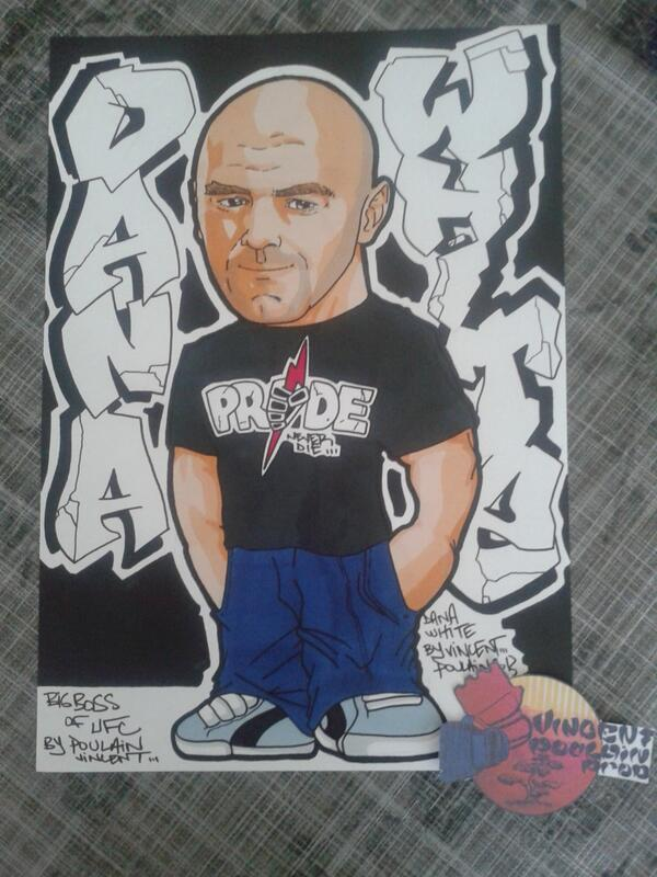 My last drawing for The Boss @ufc @danawhite by a French Artist @Vincenthury