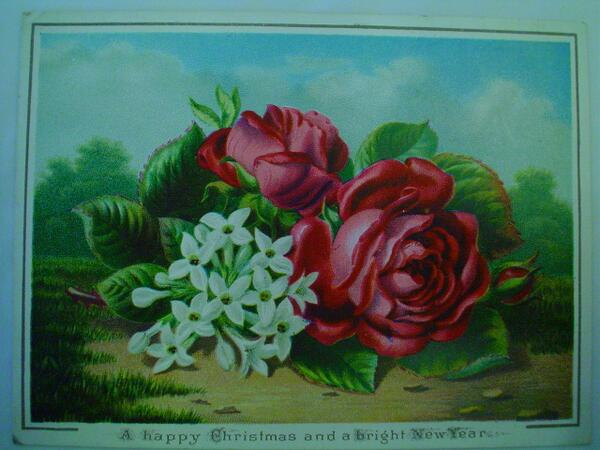 Of course, the Victorian Xmas card evolved from Valentine's cards, which is why so many look like this http://t.co/coFZzjikYz