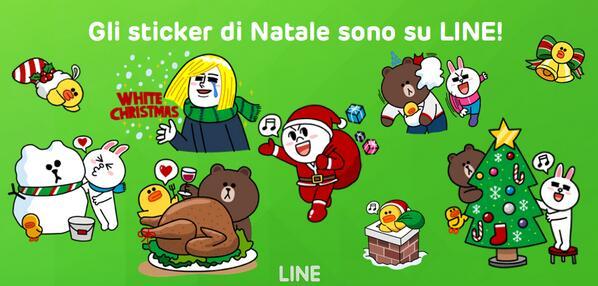 Rendete i vostri auguri di #Natale speciali con gli sticker natalizi di #LINE! Li trovate gratis nello shop!