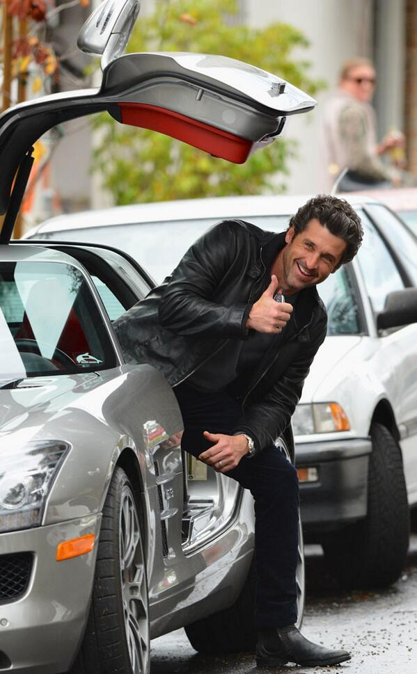 Patrick Dempsey even makes getting out of a car look good. #swoon http://t.co/8roqZI2F1c