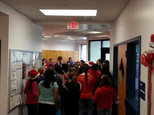The choir also took the time to spread some holiday cheer in the Board Office...#WeAreDavies http://t.co/eY9arcVRU8
