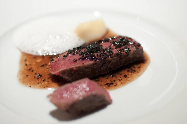 and a third wow @saisonsf - among best pieces of beef i've had - hay-smoked 90-day (even better w/o perigord sauce) http://t.co/YNpnNTrSLO