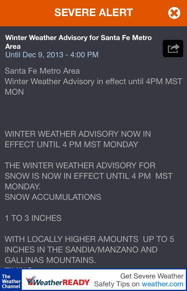 Twitter / TheRedElm: Winter Weather Advisory for ...