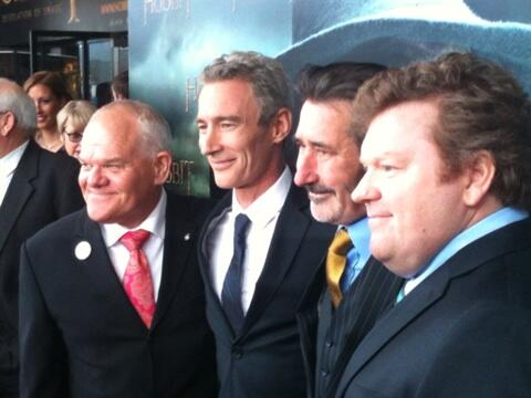 Some of the dwarves at our Hobbit premier. http://t.co/REU0o6kpx9