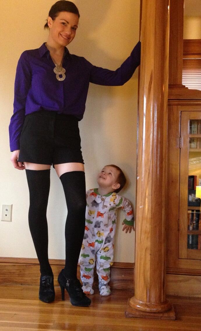 Moms thigh high stockings