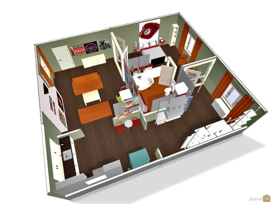 Planner 5d on twitter retro apartment design with movie for Planner 5d design d interni