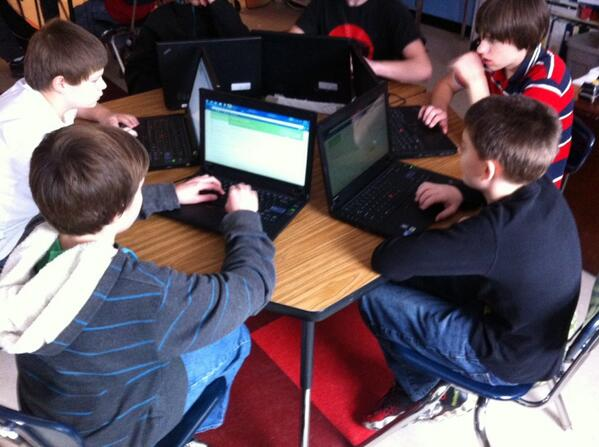 Hour of code and khan academy.  8th graders at St Albans city http://t.co/RSDnq3TNZE