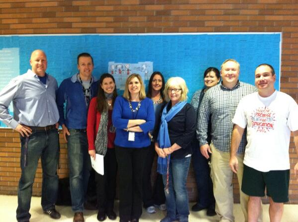 Some of the many @NWTA_Union members at ETMS who wore blue today to #ReclaimPublicEd @nysut @AFTunion http://t.co/XhK4vSfg2q