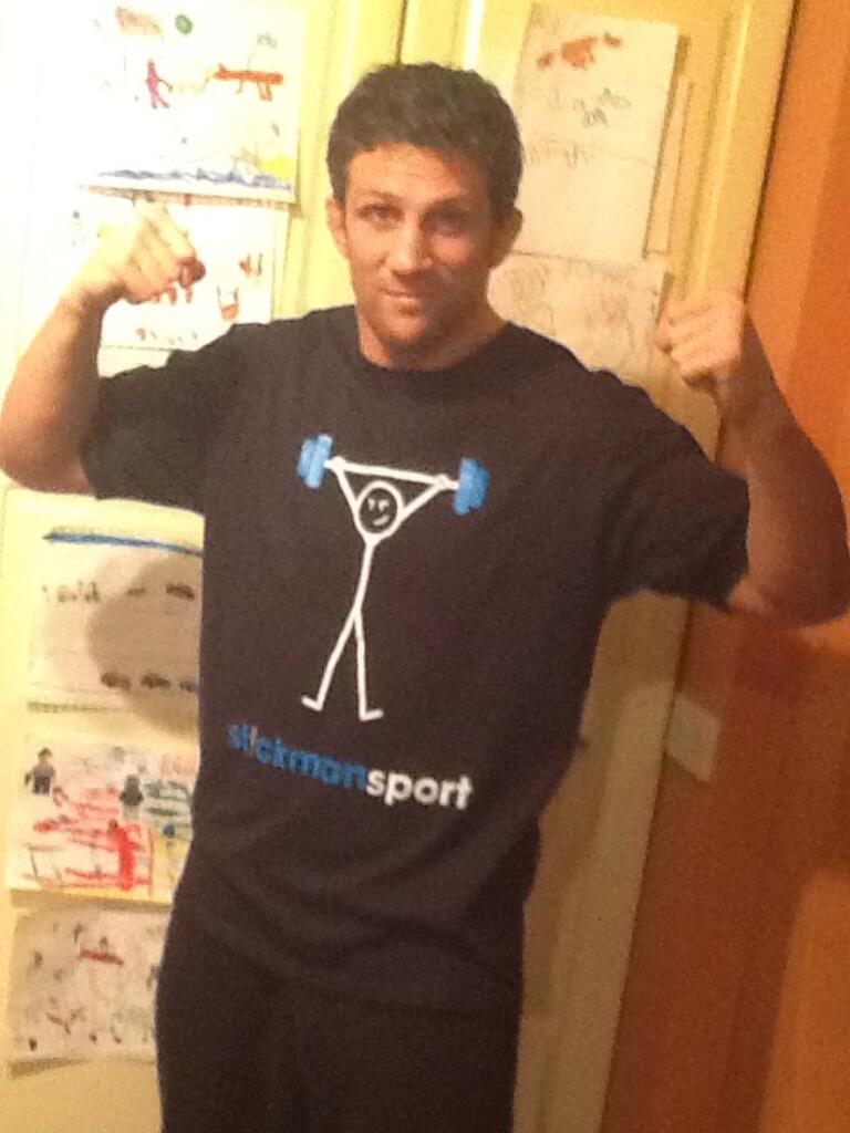 T'shirt time again & I'm just loving this one from @StickmanSport  Not as good as my drawings behind tho! http://t.co/XOg6aD1BpM