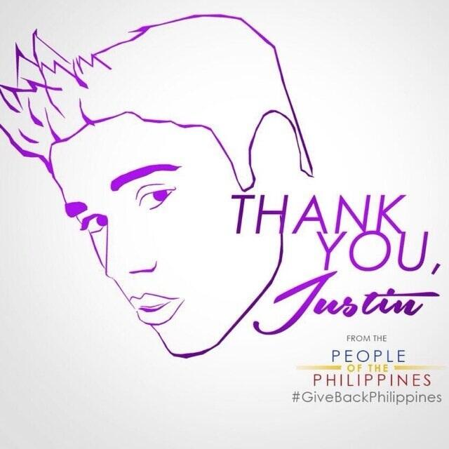 #MaramingSalamatBieber #GiveBackPhilippines http://t.co/yjCUCg3yPW