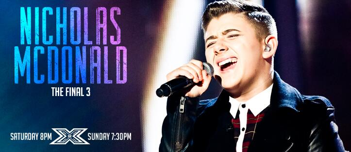 Over the next few days, we'll be celebrating each of the final three. We start with @nickymcdonald1  #XFactor http://t.co/xX2shkV7VU