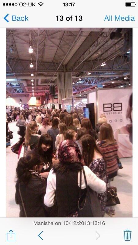 RT @PascalCraymer: Look at the ladies waiting to see the lovely @DannyO at the @BassBuds stand at the @ClothesShow... http://t.co/7YXtfvJ5rc