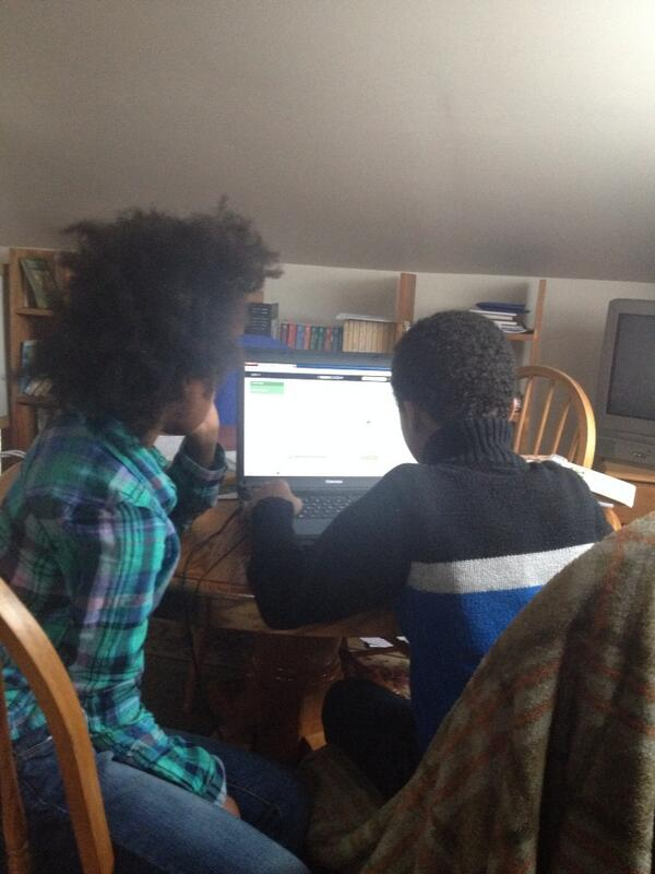 Kiddos doing #hourofcode via @khanacademy.  Thankful for such great resources. #homeschooling http://t.co/uVOBunvimK
